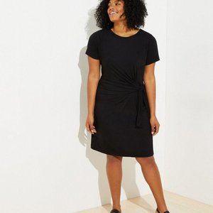 Loft Black Knotted Detail Dress